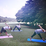 park yoga, Negishi Shinrin Park, morning yoga, Yokohama yoga