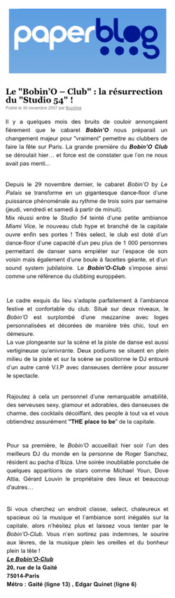 2007 PAPERBLOG BOBINO