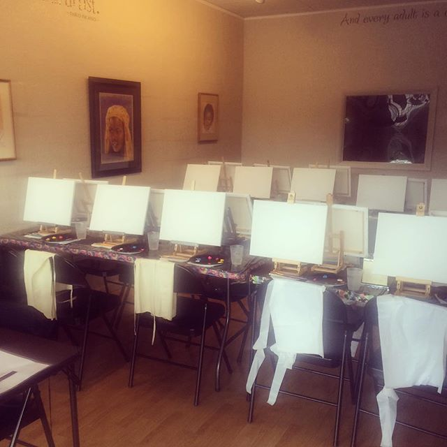 We're getting all set up for our next pARTi this Saturday! We hope you can join us! www.theartscorne