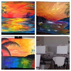 Tomorrow is our next event, the Caribbean Memories painting pARTi! Here are some examples of the pai