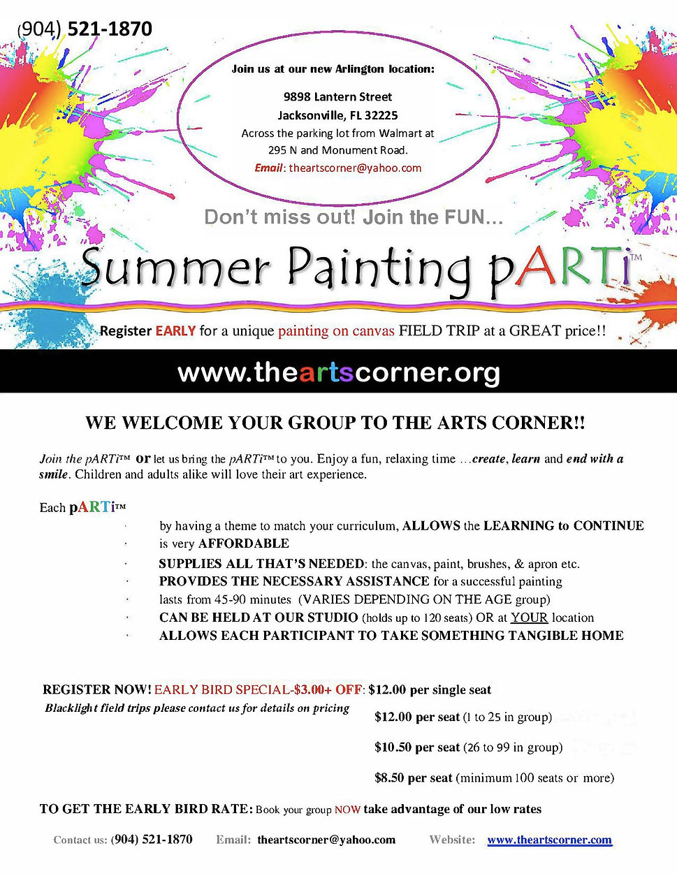 Summer Painting pARTi General correspond