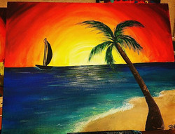 Beautiful _Island Feel_ painting done by our talented Artist Suggey (sūh-hey) 🎨_•••_Double tap if y