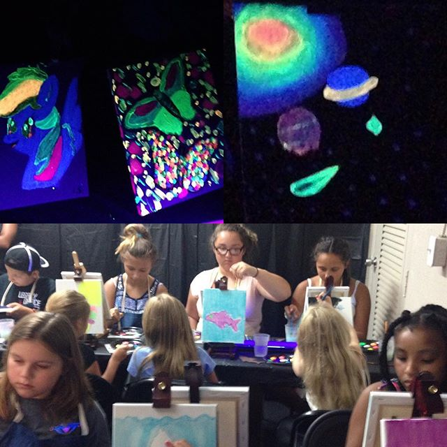 Our Neon Night pARTi is definitely a _bright_ spot in our week! As you can see our artists are so ta