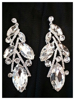 Large Drop CZ Earrings