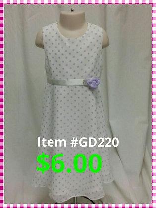 Item # GD220 Purple/White  Dress