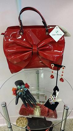 Red Bow Handbag