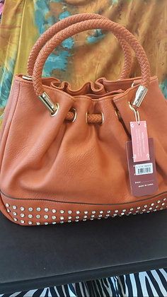 Orange w/Rhinestone Handbag