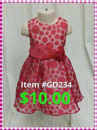 Item # GD234 Pink Poka Dot Dress