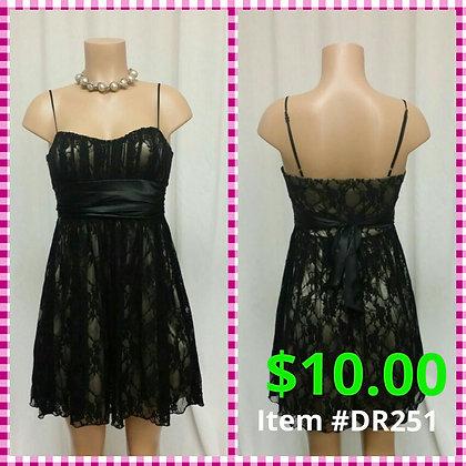 Item # DR251 Black Lace Dress