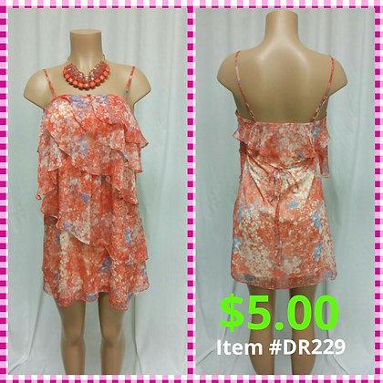 Item # DR229 Peach Flower Dress
