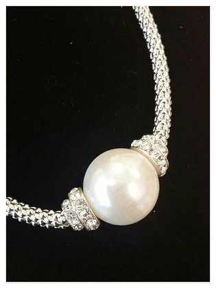 Large One Pearl Drop Necklace Set