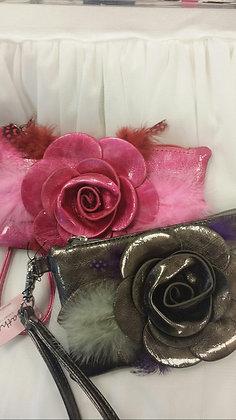Rose & Feather Wrist Clutch
