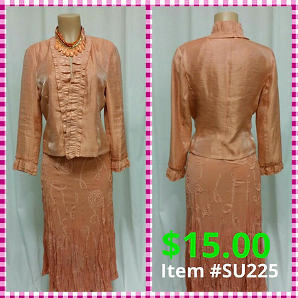 Item # DR225 Peach Suit