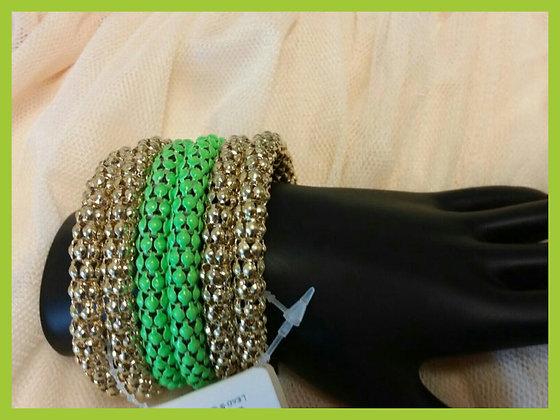 Green Mesh Style Bracelet