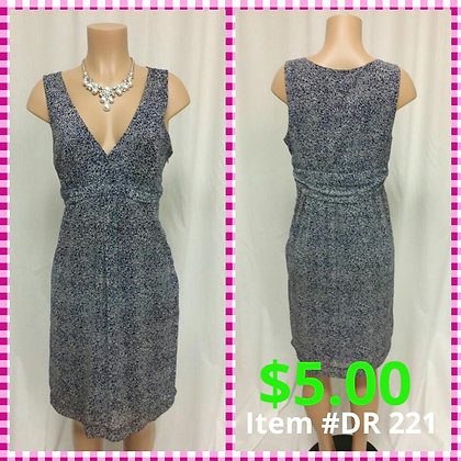 Item # DR221 Blue Print Dress
