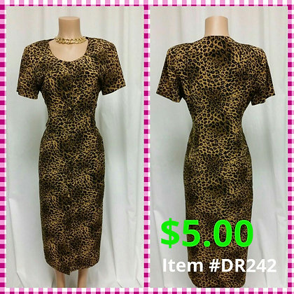 Item # DR242 Leopard Dress