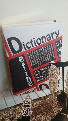 Large Hard Book Clutch Bag