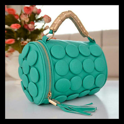 Sea Green Button Purse