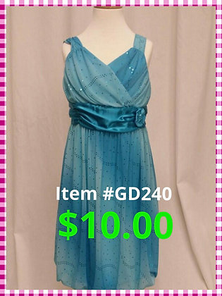 Item # GD240 Turq Dress