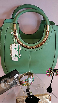 Green & Gold Handbag