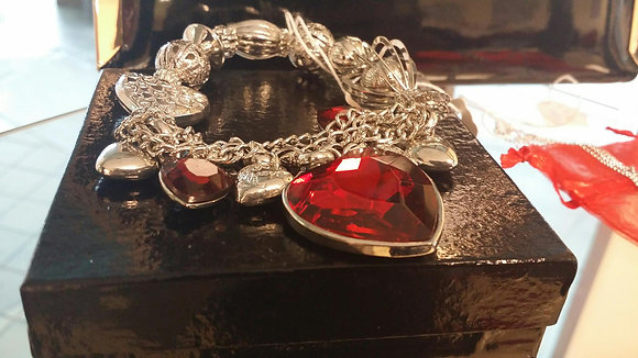 Red Large Heart Bracelet