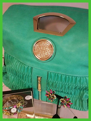 Green Medallion Handbag