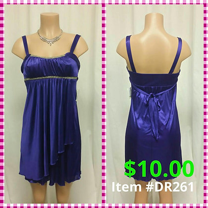 Item # DR261 Purple Dress