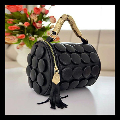 Black Button Purse