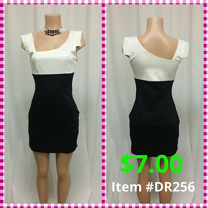 Item # DR256 White/Black Dress