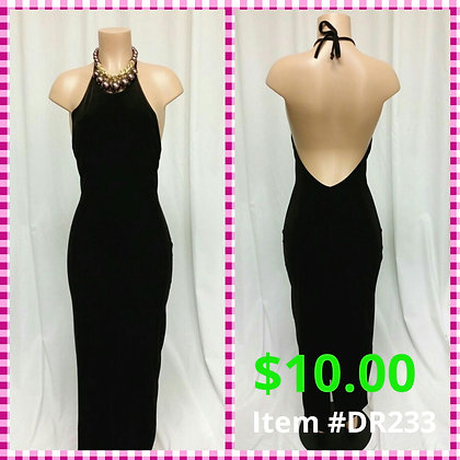 Item # DR233  Brown Velvet Long Dress