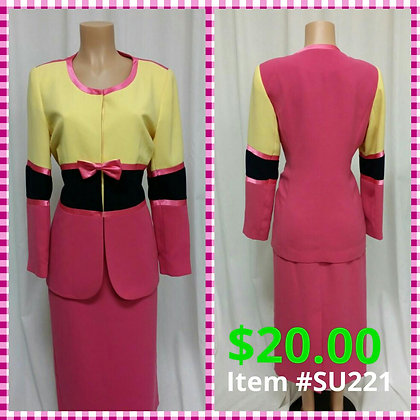 Item # DR221 Yellow/Pink/Blue Suit