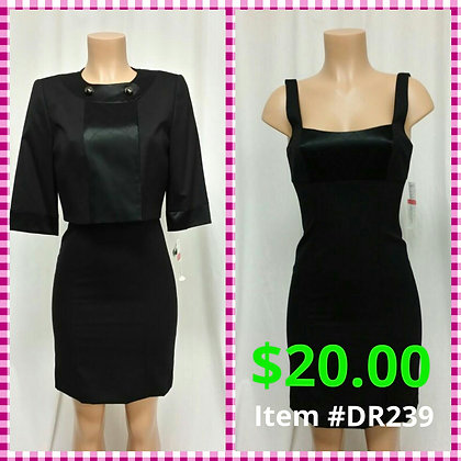 Item # DR239 Black Dress & Jacket