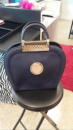 Blue with Gold Handbag