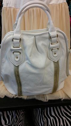 White & Gold Large Handbag