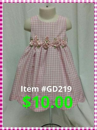 Item # GD219 Pink Checker Dress
