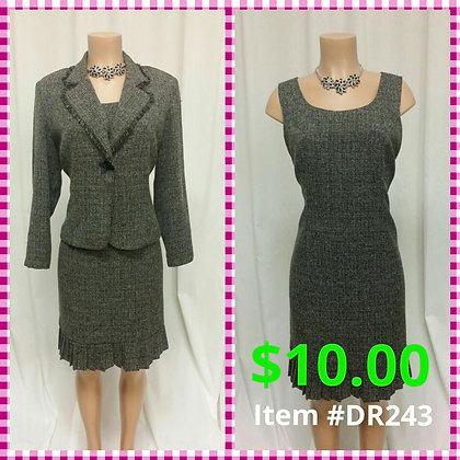 Item # DR243 Black/White Dress & Jacket
