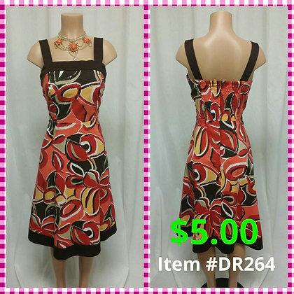 Item # DR264 Brown Print Dress