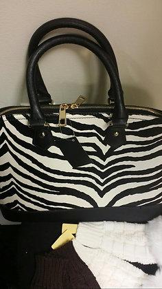 Zebra Print Large Handbag