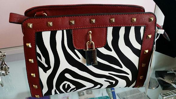 Small Zebra Print with Red Trim