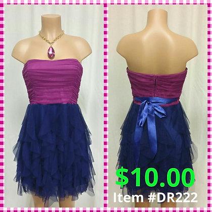 Item # DR222 Purple & Fushia Party Dress