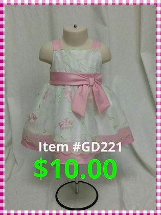 Item # GD221 Pink Flower Dress