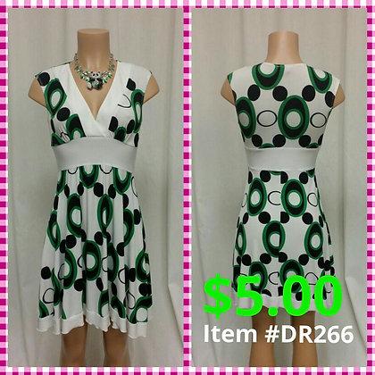Item # DR266 Green/Black Dress