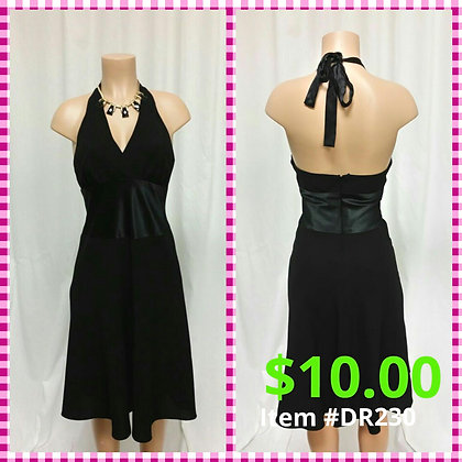 Item # DR230 Black Dinner Dress