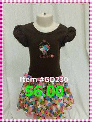 Item # GD230 Brown Dress