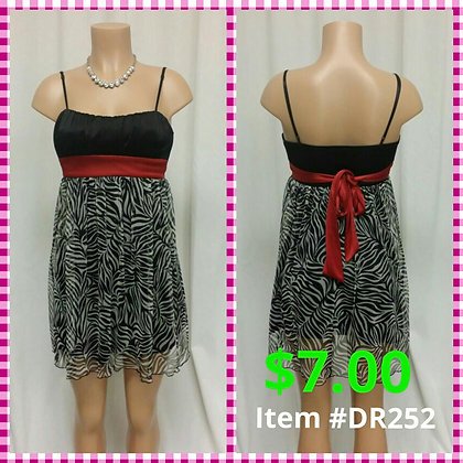 Item # DR252 Black & Red Dress