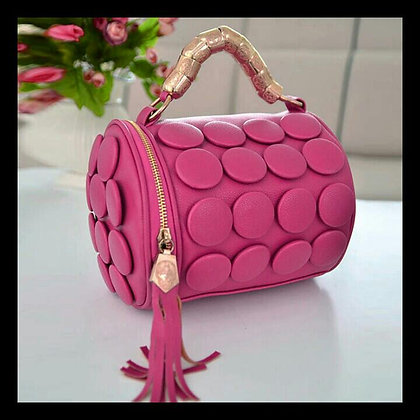 Rose Red Button Purse