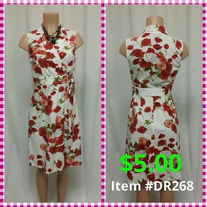 Item # DR268 Red Flower Dress