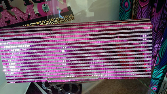 Hot Pink & Silver Clutch Bag
