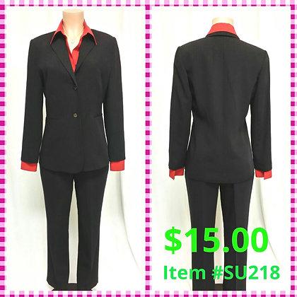 Item # DR218 Black/Gray Dot Suit