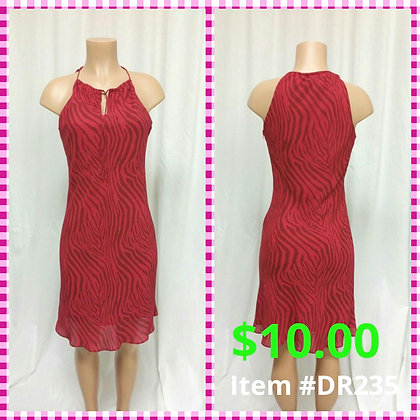 Item # DR235  Maroon/Brown Dress